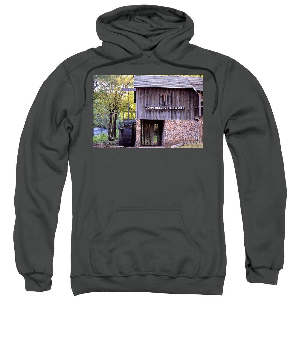 September's Grist Mill Sweatshirt featuring the photograph September's Grist Mill by Maria Urso