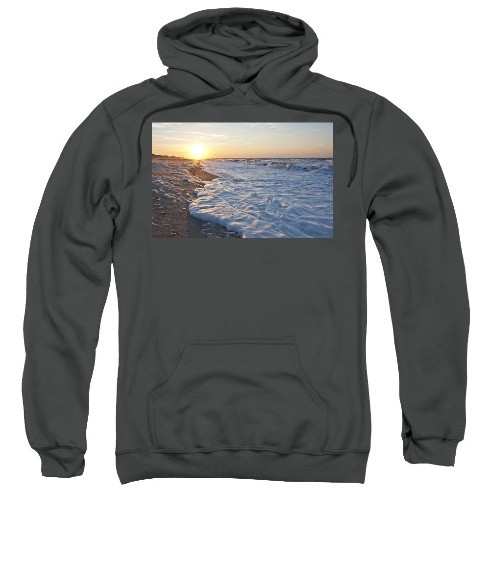 Shackleford Sweatshirt featuring the photograph Serene Sunrise by Betsy Knapp