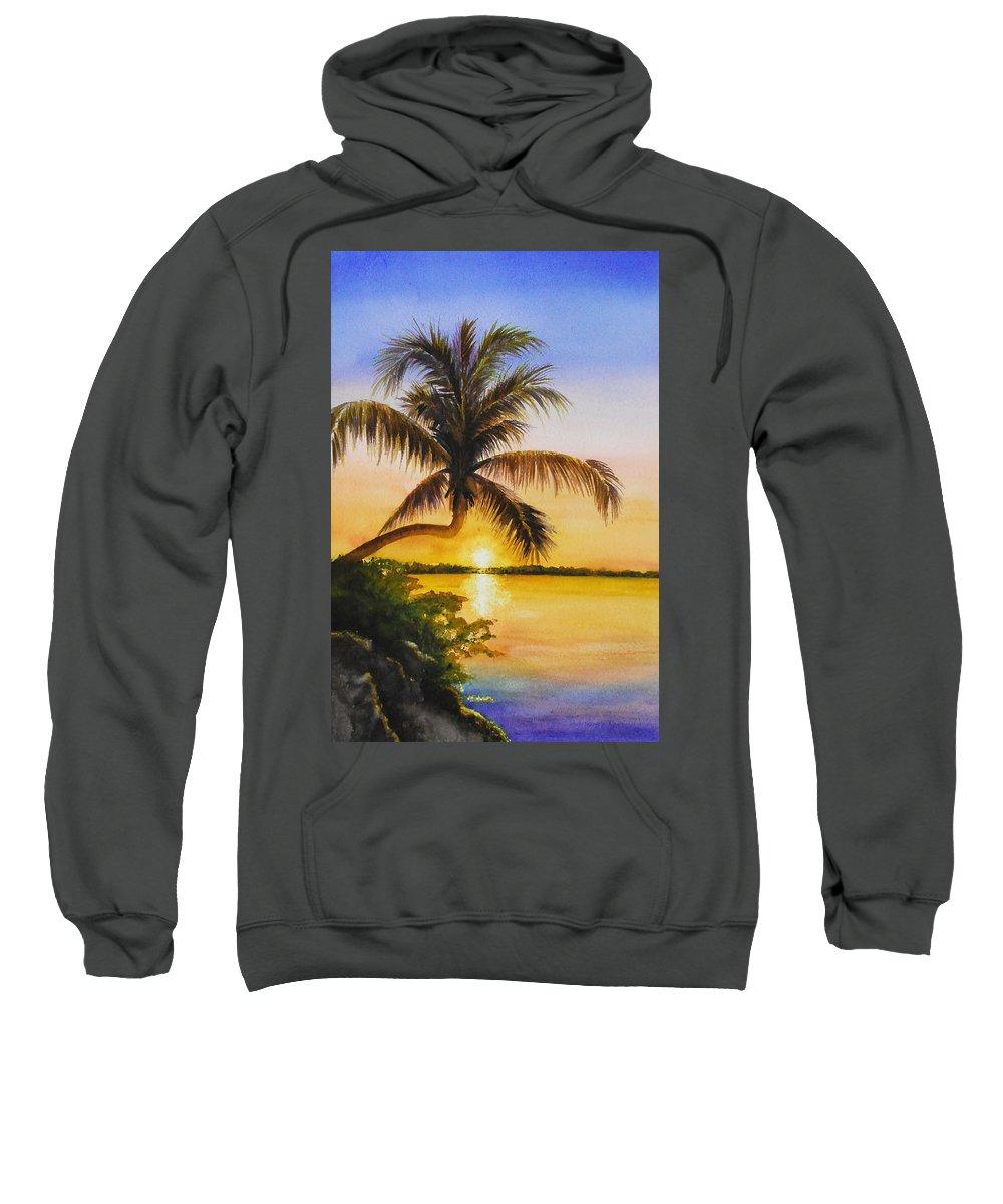 Florida Keys Sweatshirt featuring the painting Serenity by Terry Arroyo Mulrooney