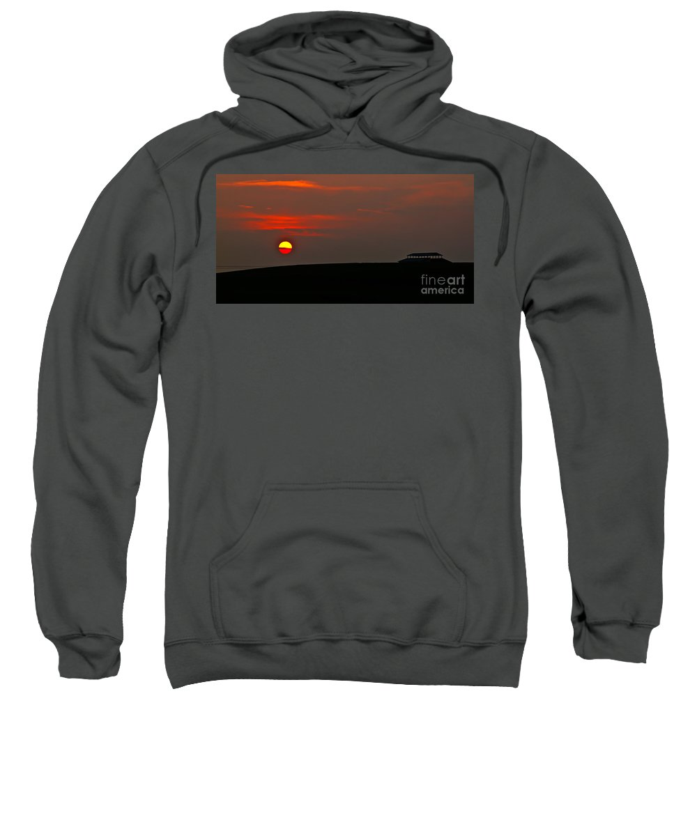 Sunset Sweatshirt featuring the photograph Setting Sun by Robert Bales