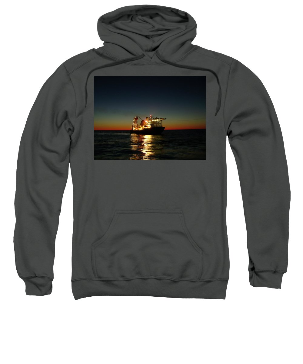 Photograph Sweatshirt featuring the photograph Seven Navica Just Before Dawn by Charles and Melisa Morrison