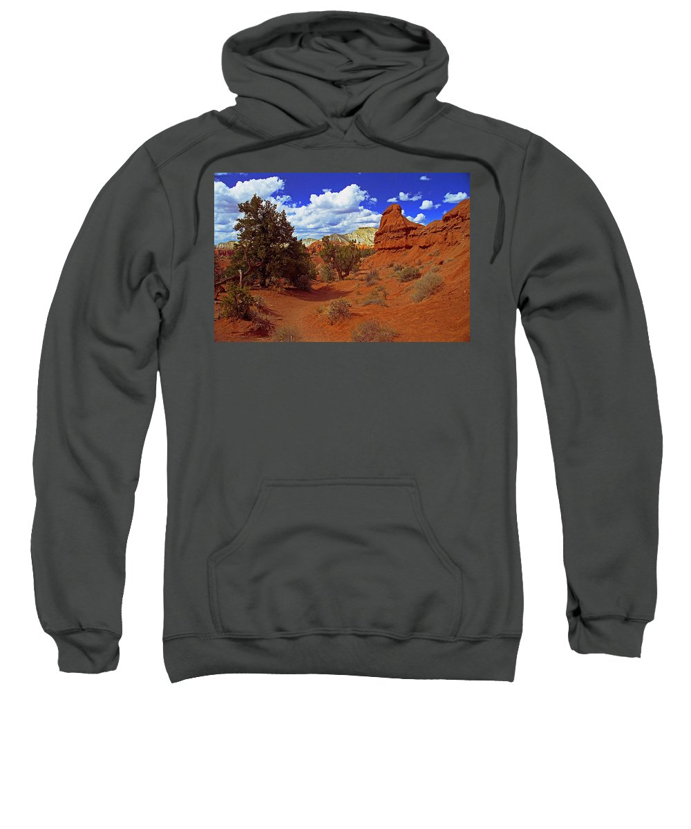 Utah Sweatshirt featuring the photograph Shakespeare Trail In Kodachrome Park by Rich Walter