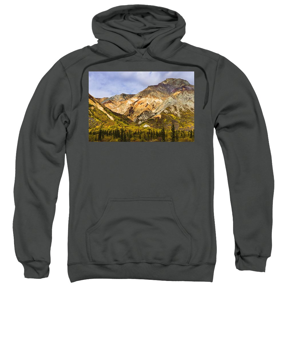 Autumn Sweatshirt featuring the photograph Sheep Mountain Along Glenn Highway by Yves Marcoux