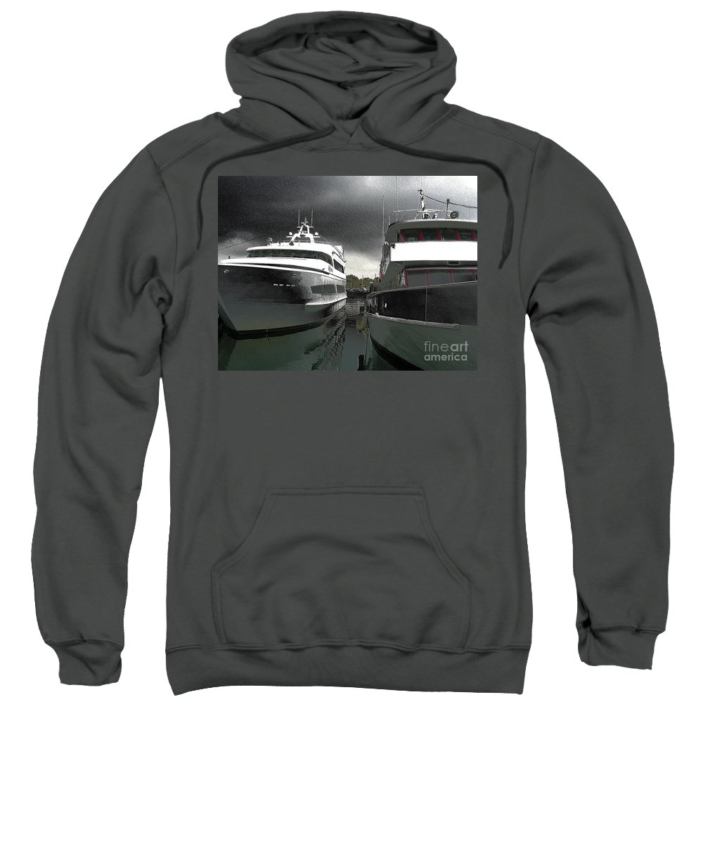 Boats Sweatshirt featuring the photograph Sheepshead Bay by Mark Gilman