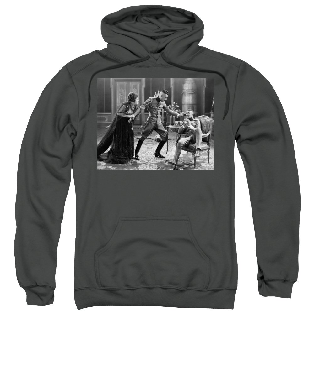 -miscellaneous Silent Films- Sweatshirt featuring the photograph Silent Still: Soldier by Granger