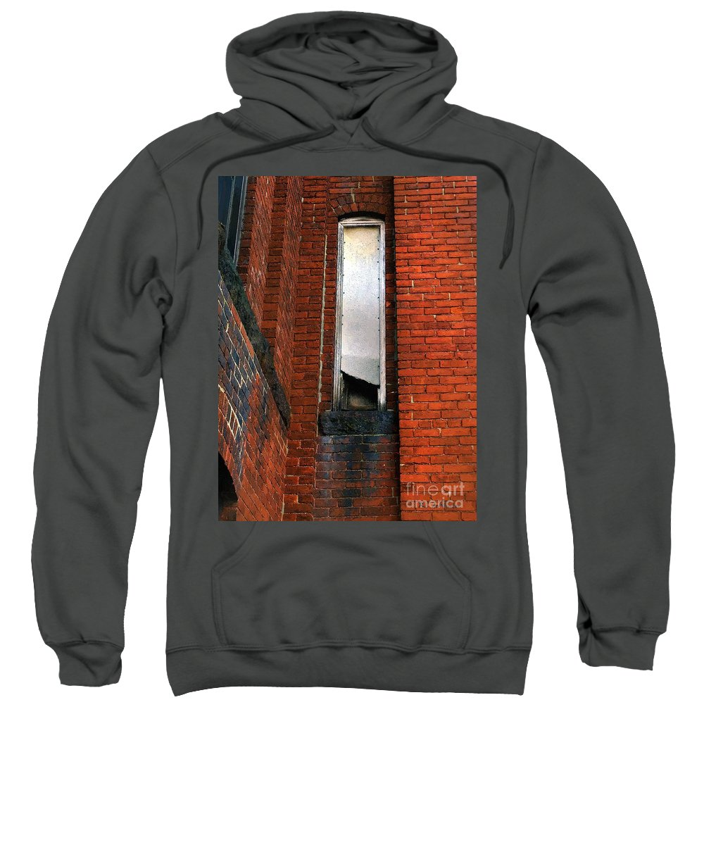Window Sweatshirt featuring the painting Silk Mill Soot by RC DeWinter