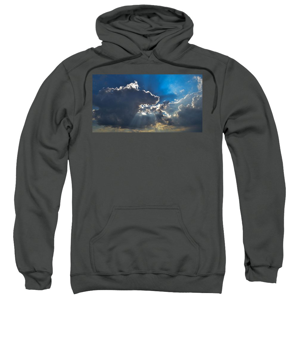 Clouds Sweatshirt featuring the photograph Silver Lining by Wanda J King