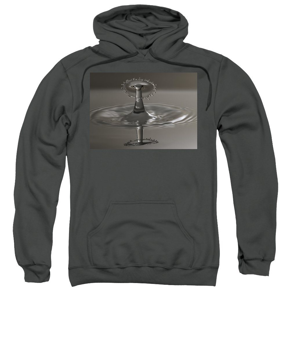 Water Sweatshirt featuring the photograph Silver Reflections by Nick Field