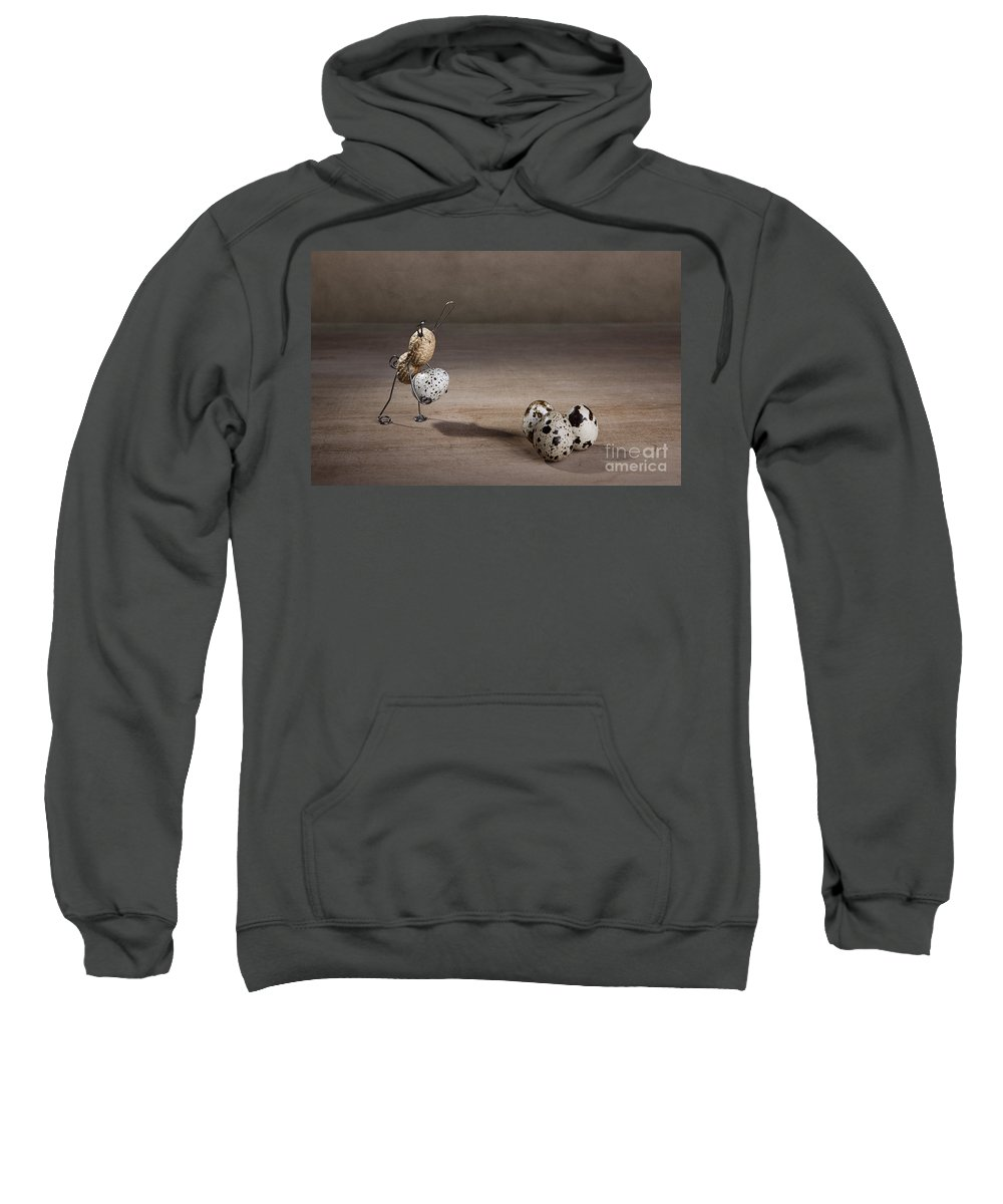 Easter Sweatshirt featuring the photograph Simple Things Easter 08 by Nailia Schwarz