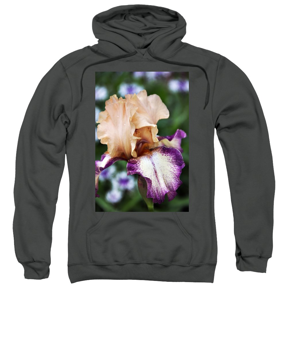 Iris Sweatshirt featuring the photograph Singing In The Rain 2 by Angelina Vick