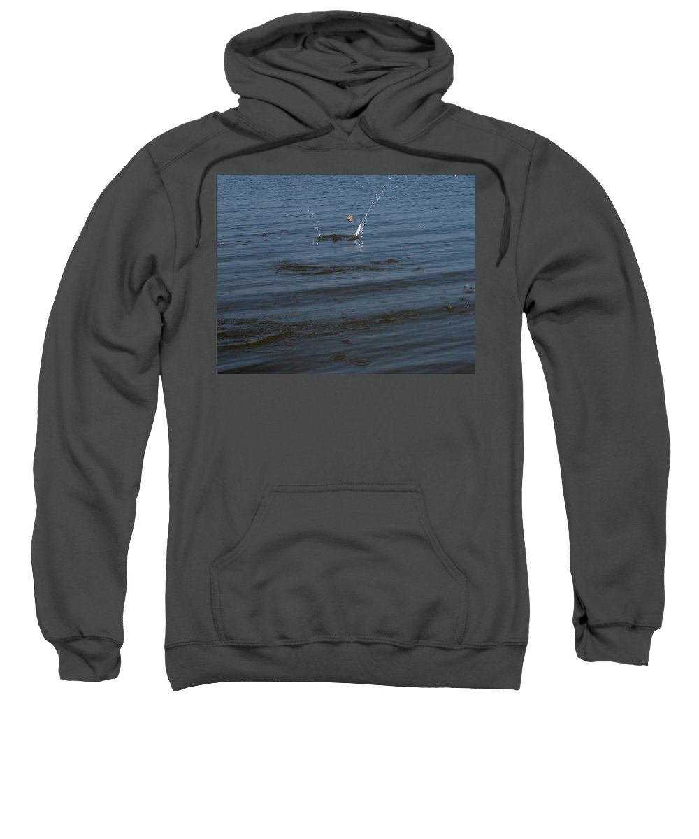 Skipping Stone Sweatshirt featuring the photograph Skipping Stone by Joshua House