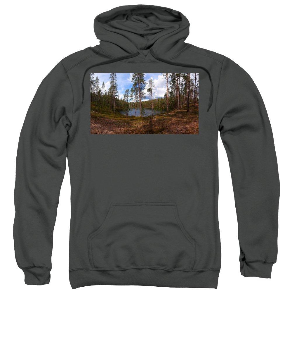 Lehtokukka Sweatshirt featuring the photograph Smaller Huossilampi by Jouko Lehto