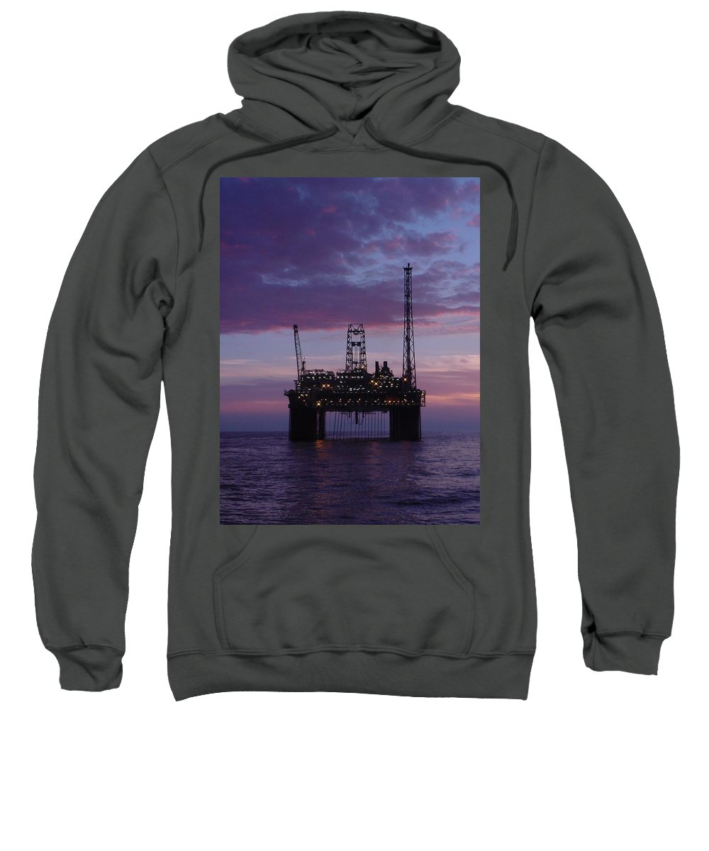 Norway Sweatshirt featuring the photograph Snorre At Dusk by Charles and Melisa Morrison