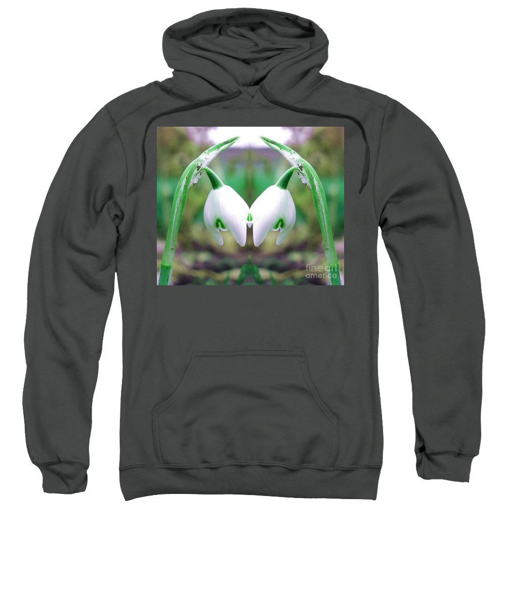Snowdrop Sweatshirt featuring the photograph Snowdrops by John Chatterley