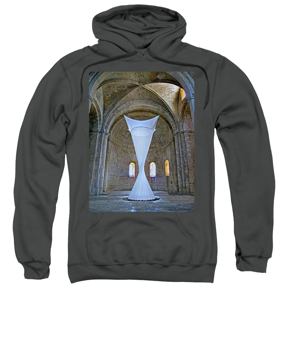Monastery Sweatshirt featuring the photograph Soft Sculpture In A Monastery by Dave Mills