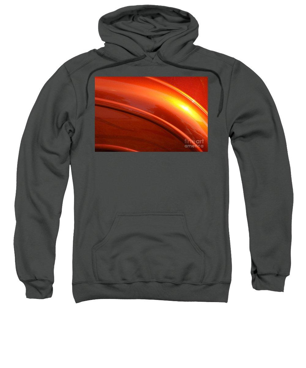 Orange Sweatshirt featuring the photograph Solar Flare by Luke Moore