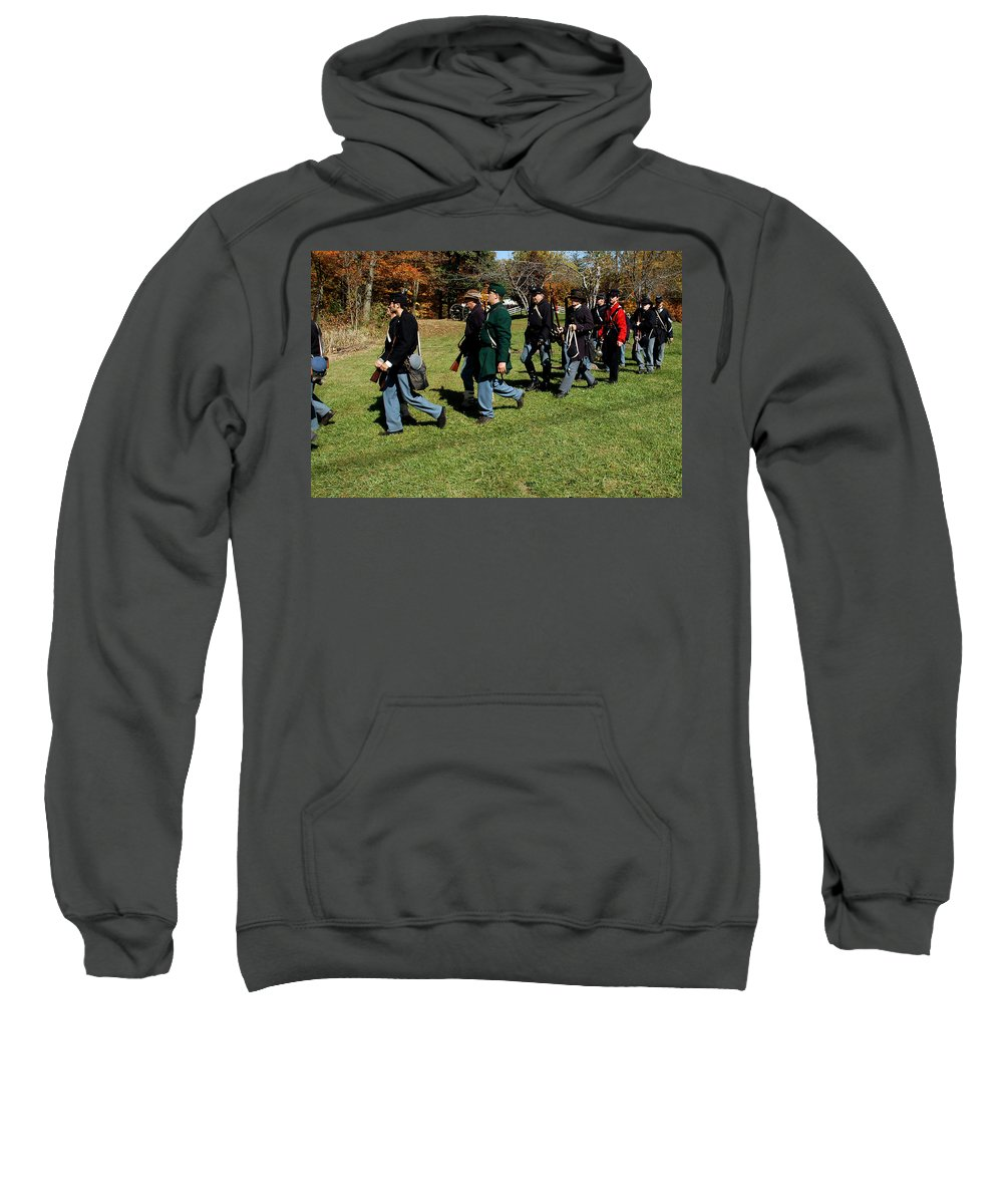 Usa Sweatshirt featuring the photograph Soldiers March Two By Two by LeeAnn McLaneGoetz McLaneGoetzStudioLLCcom