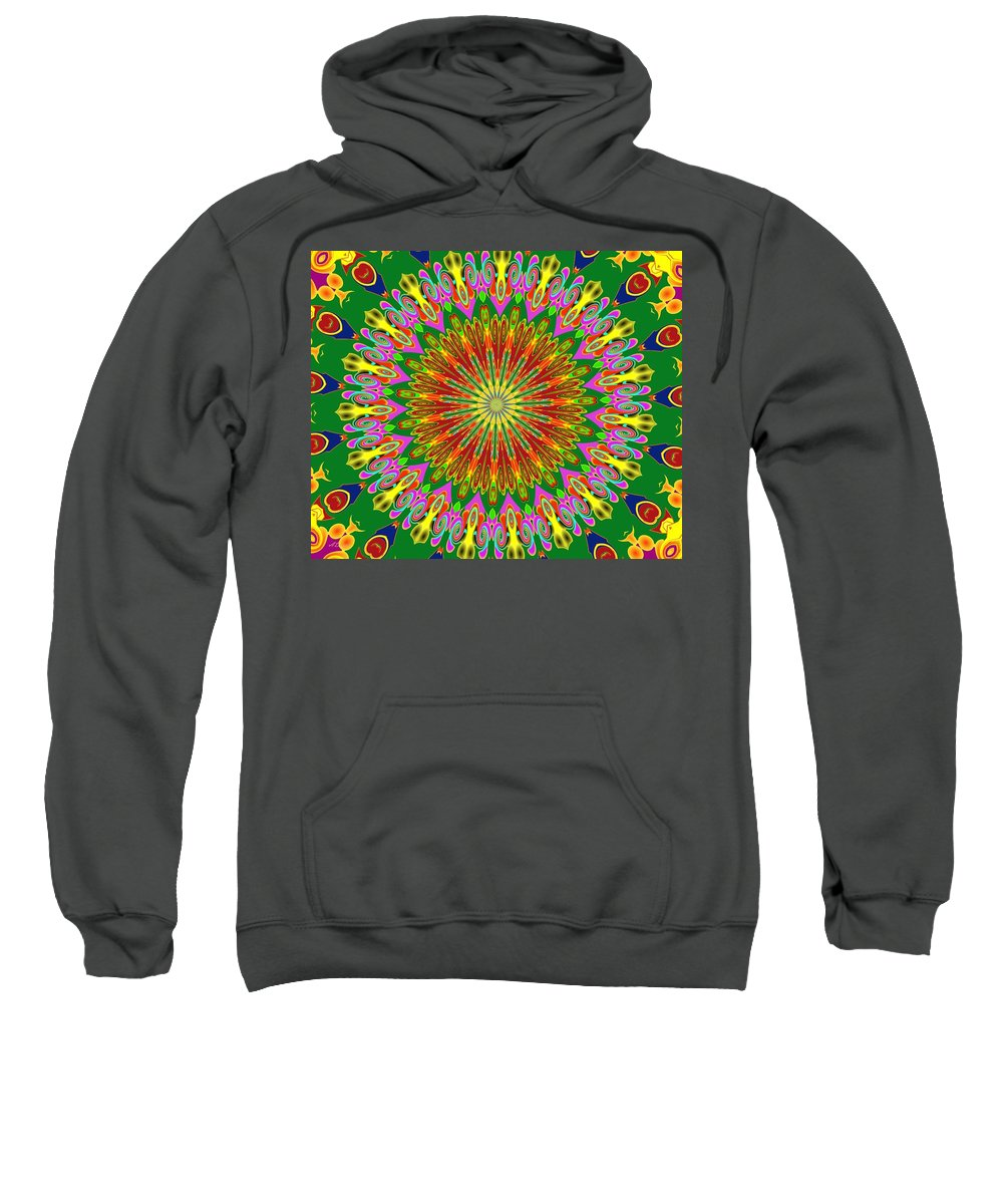 Tile Sweatshirt featuring the digital art Spanish Tile by Alec Drake