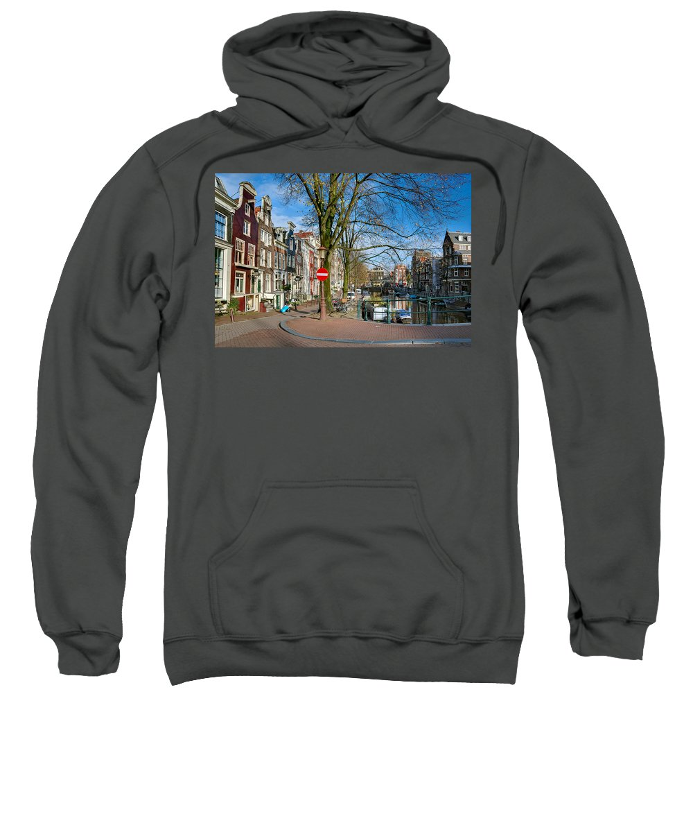 Holland Amsterdam Sweatshirt featuring the photograph Spiegelgracht 36. Amsterdam by Juan Carlos Ferro Duque