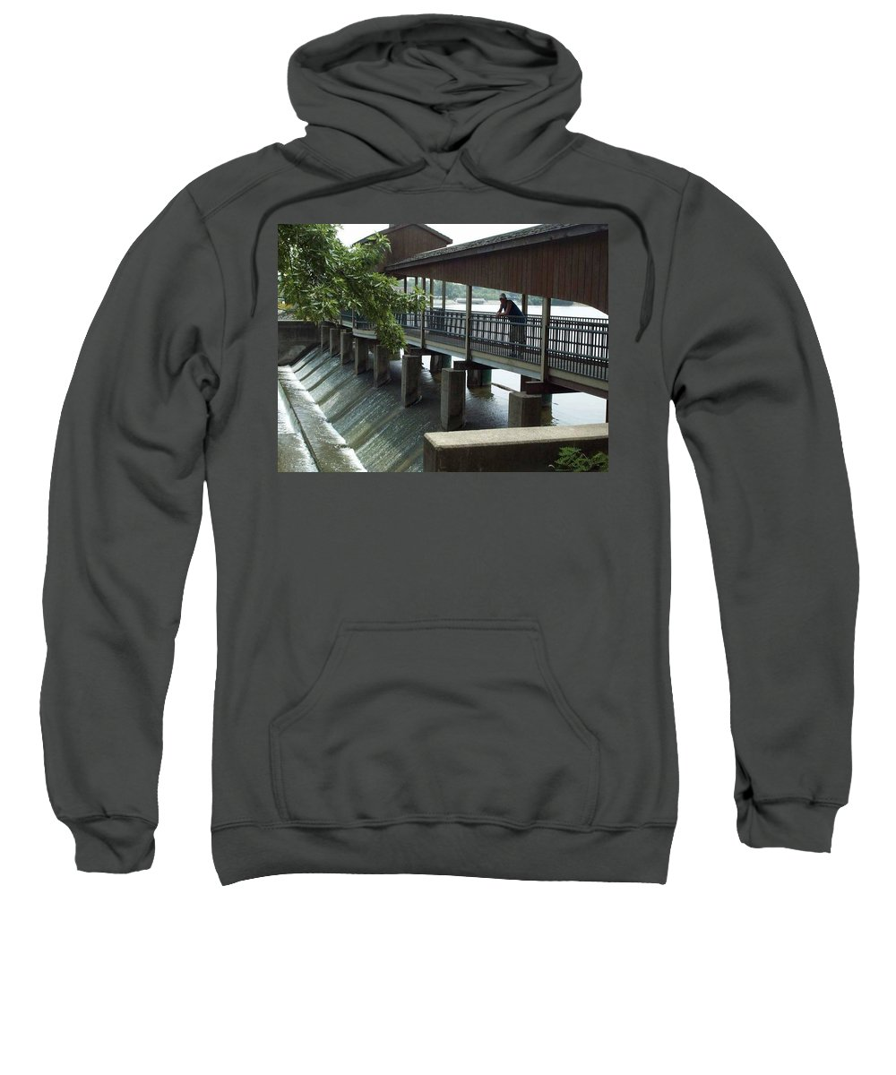 Spill Sweatshirt featuring the photograph Spillway In Indiana by Thomas Woolworth