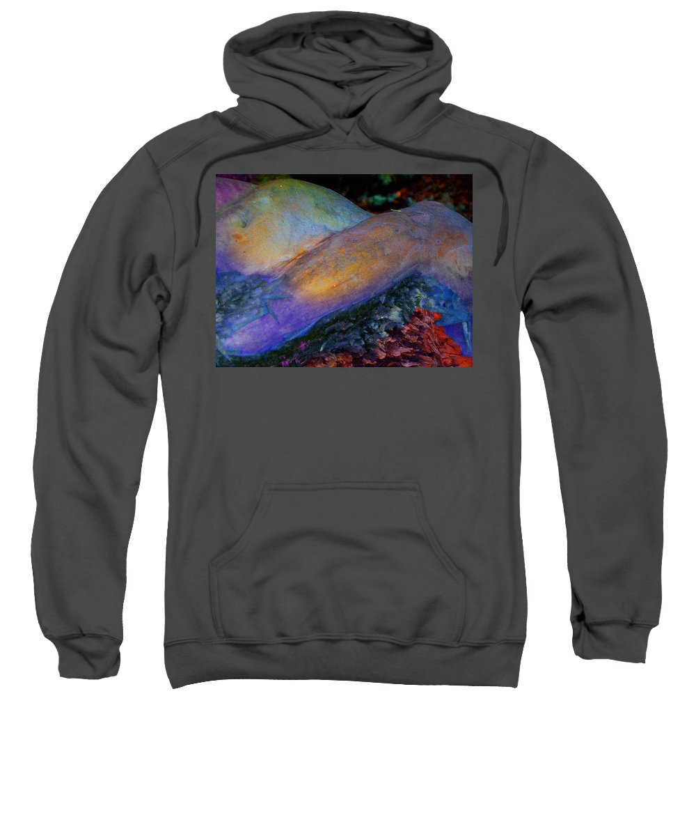 Sweatshirt featuring the digital art Spirit's Call by Richard Laeton