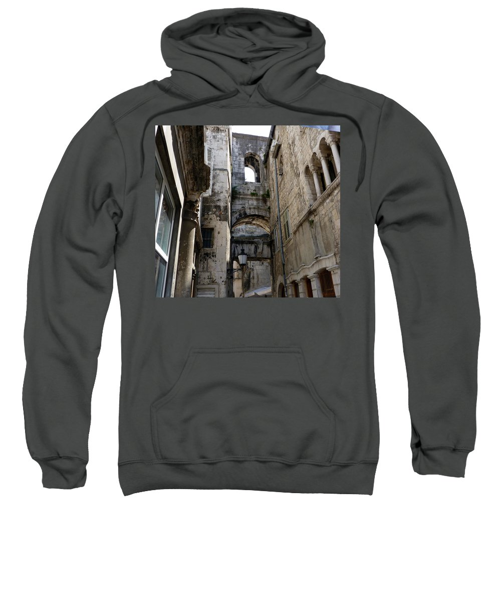 Split Sweatshirt featuring the photograph Split Croatia's Old Town by Carla Parris