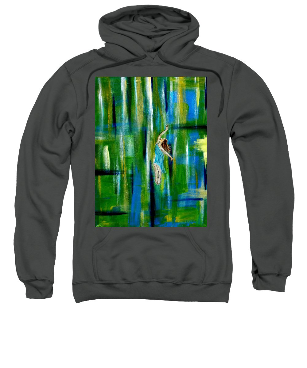 Spring Sweatshirt featuring the painting Spring Equinox by The Art With A Heart By Charlotte Phillips