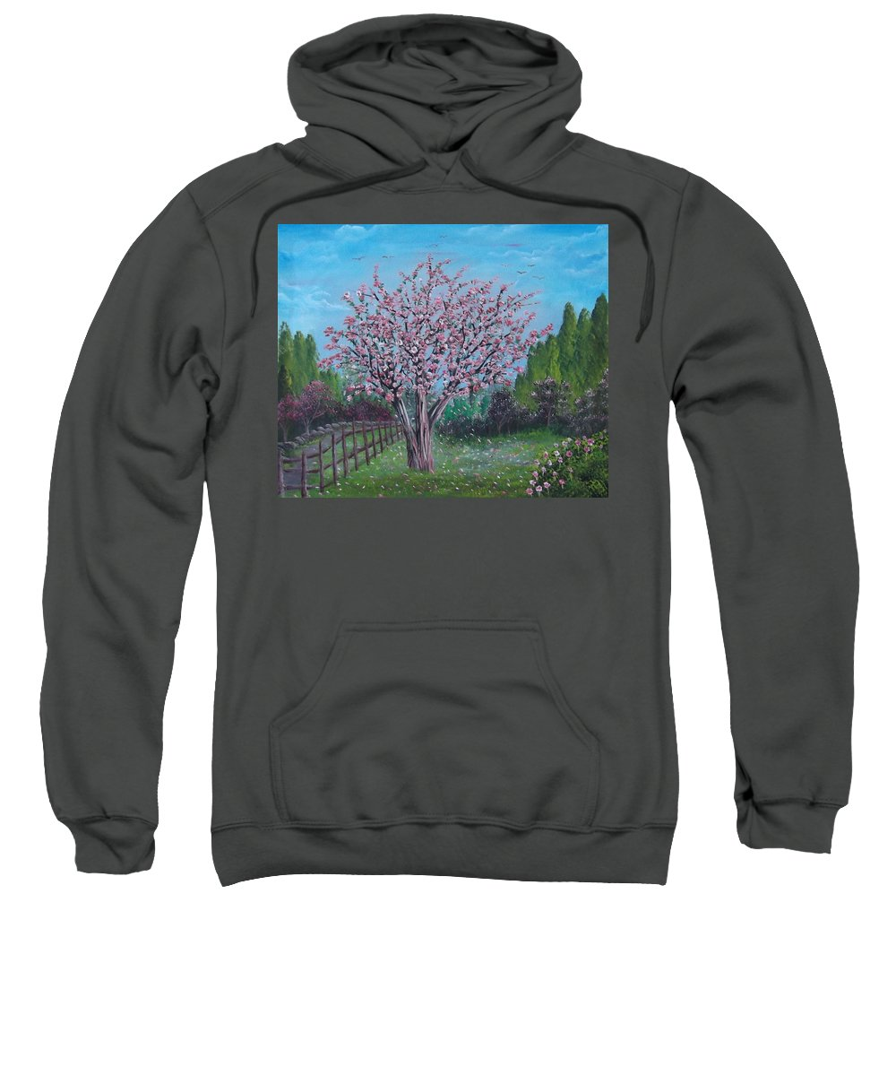 Spring Sweatshirt featuring the painting Spring Tree by Bruno Patriarca