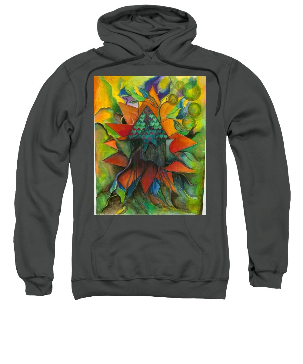 Watercolor Sweatshirt featuring the painting Stars House One by Jill Hungerford