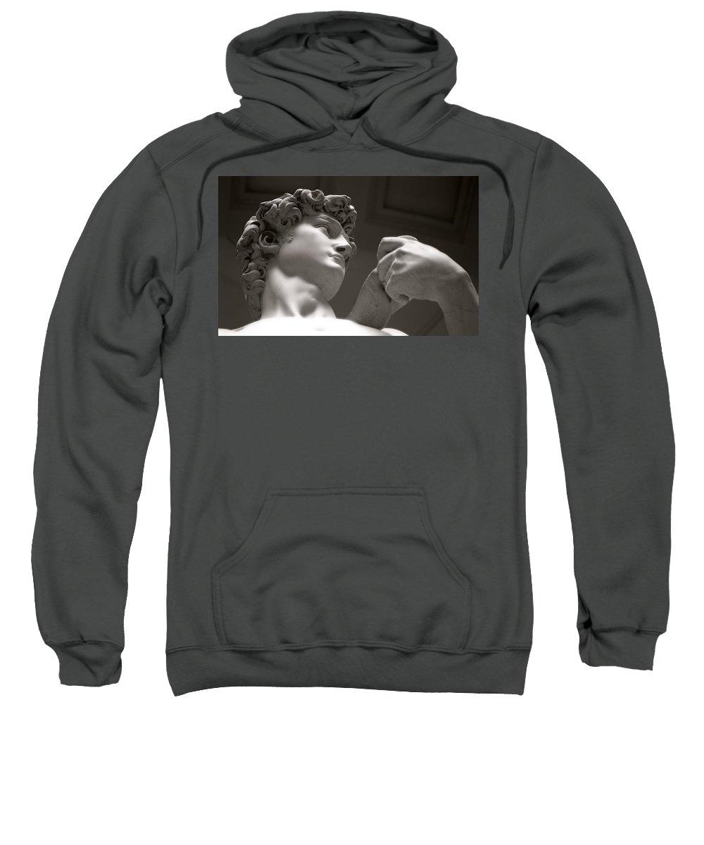 Kg Sweatshirt featuring the photograph Statue Of David by KG Thienemann
