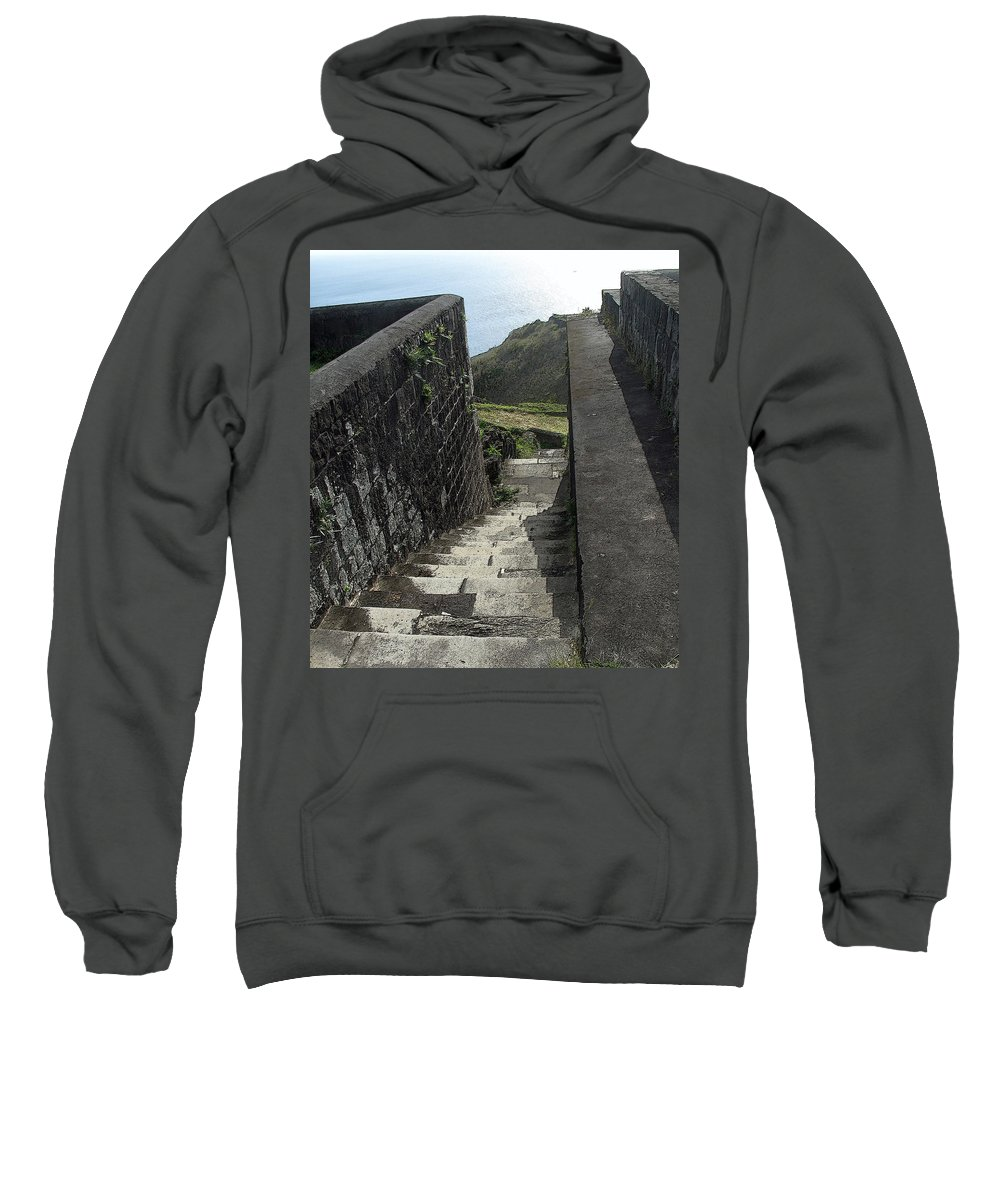 Fortress Sweatshirt featuring the photograph Steps Above The Sea by Ian MacDonald