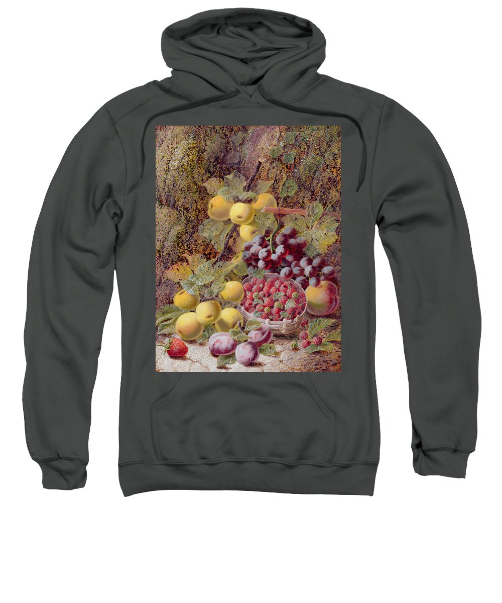Still Life With Fruit Sweatshirt featuring the painting Still Life With Fruit by Oliver Clare
