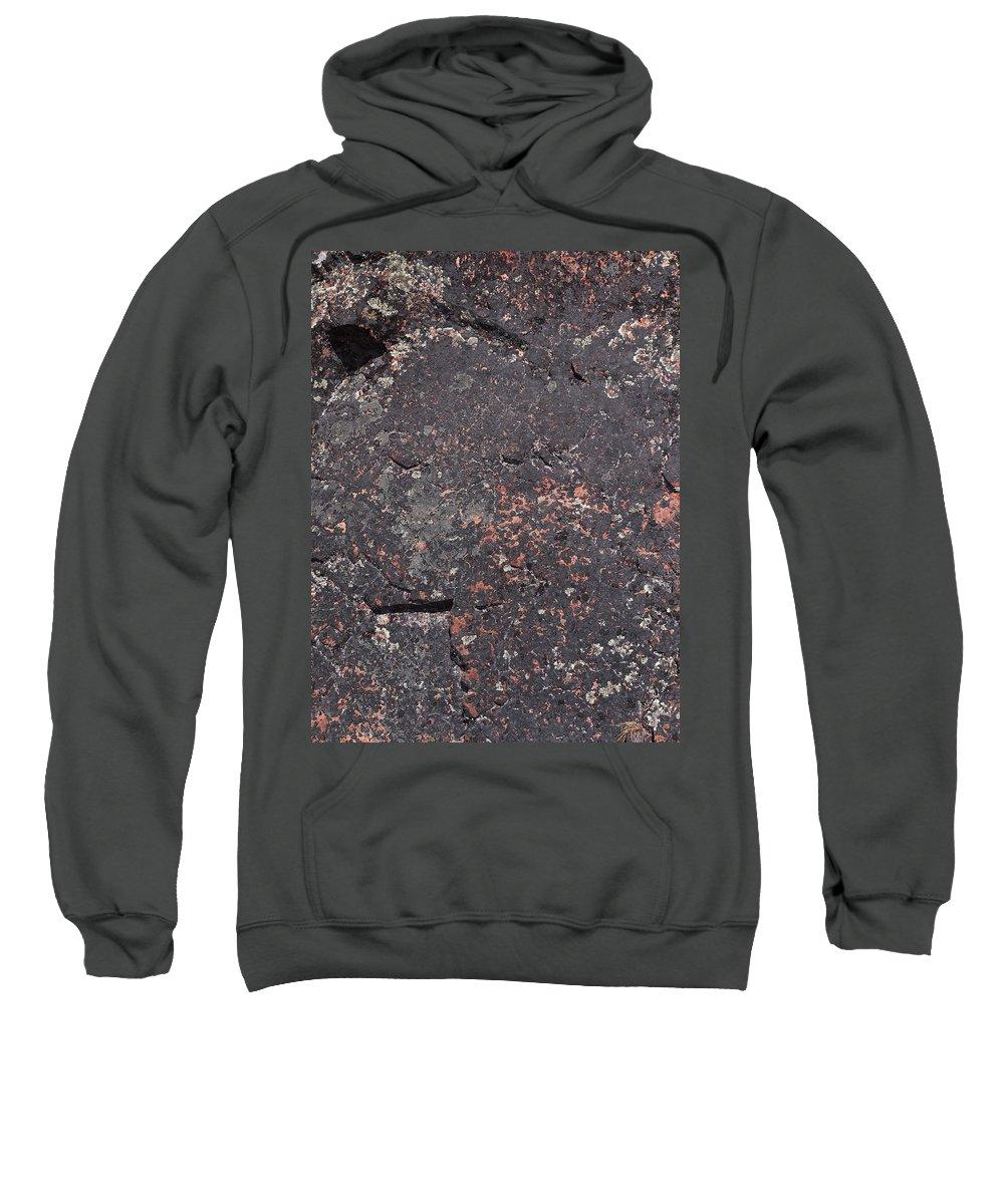 Lehtokukka Sweatshirt featuring the photograph Stone Face by Jouko Lehto
