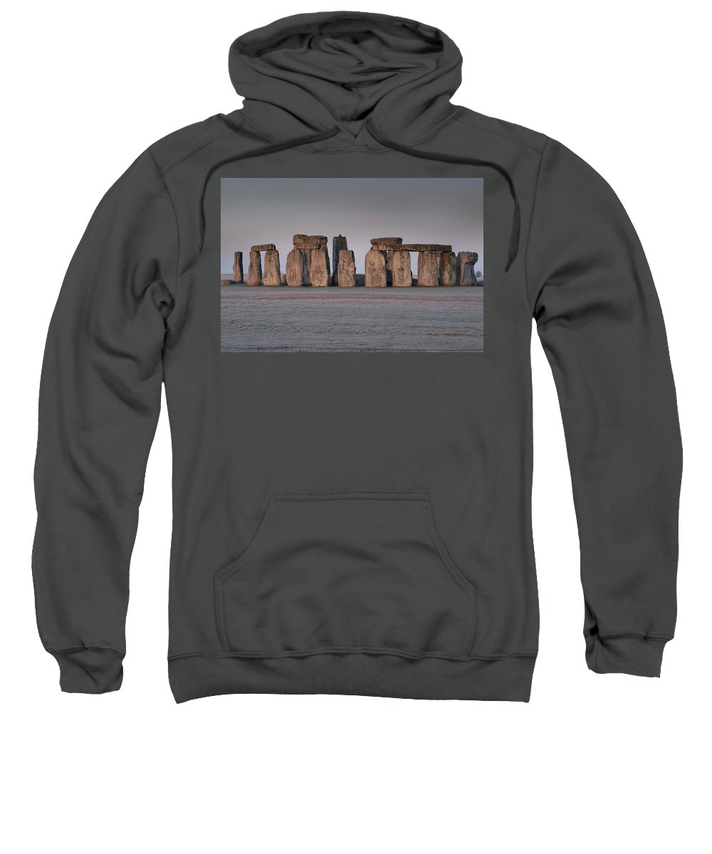 Wiltshire Sweatshirt featuring the photograph Stonehenge Wiltshire by Axiom Photographic