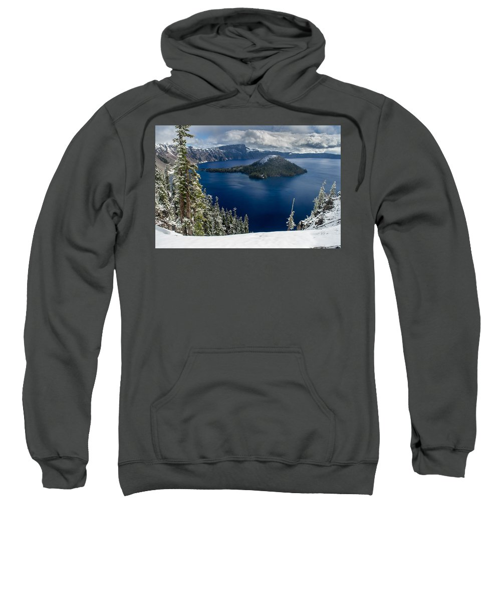 Cascades Sweatshirt featuring the photograph Storm Clearing At Discovery Point by Greg Nyquist