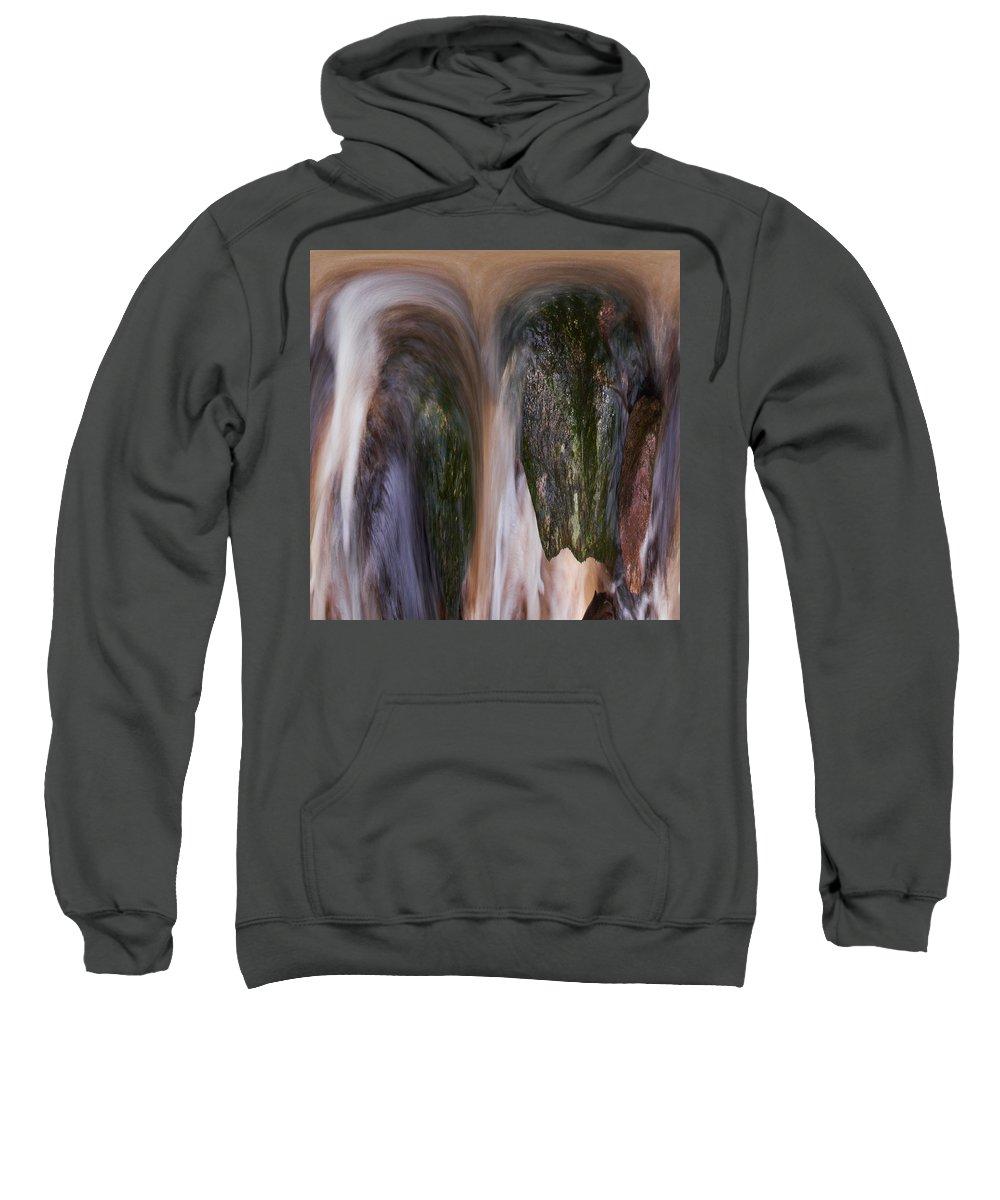 Liesijoki Sweatshirt featuring the photograph Stream by Jouko Lehto