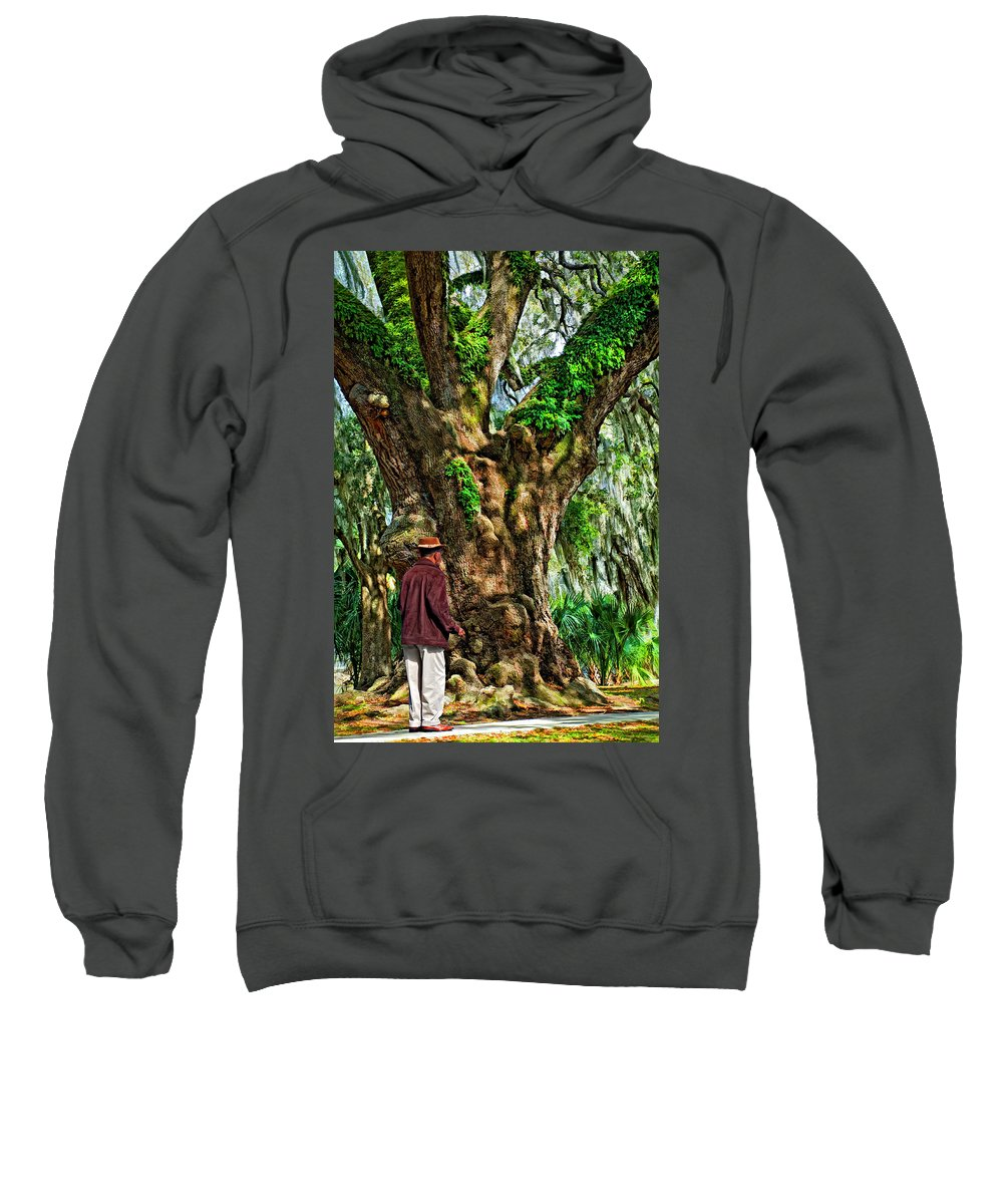 New Orleans Sweatshirt featuring the photograph Strolling With Giants Painted by Steve Harrington