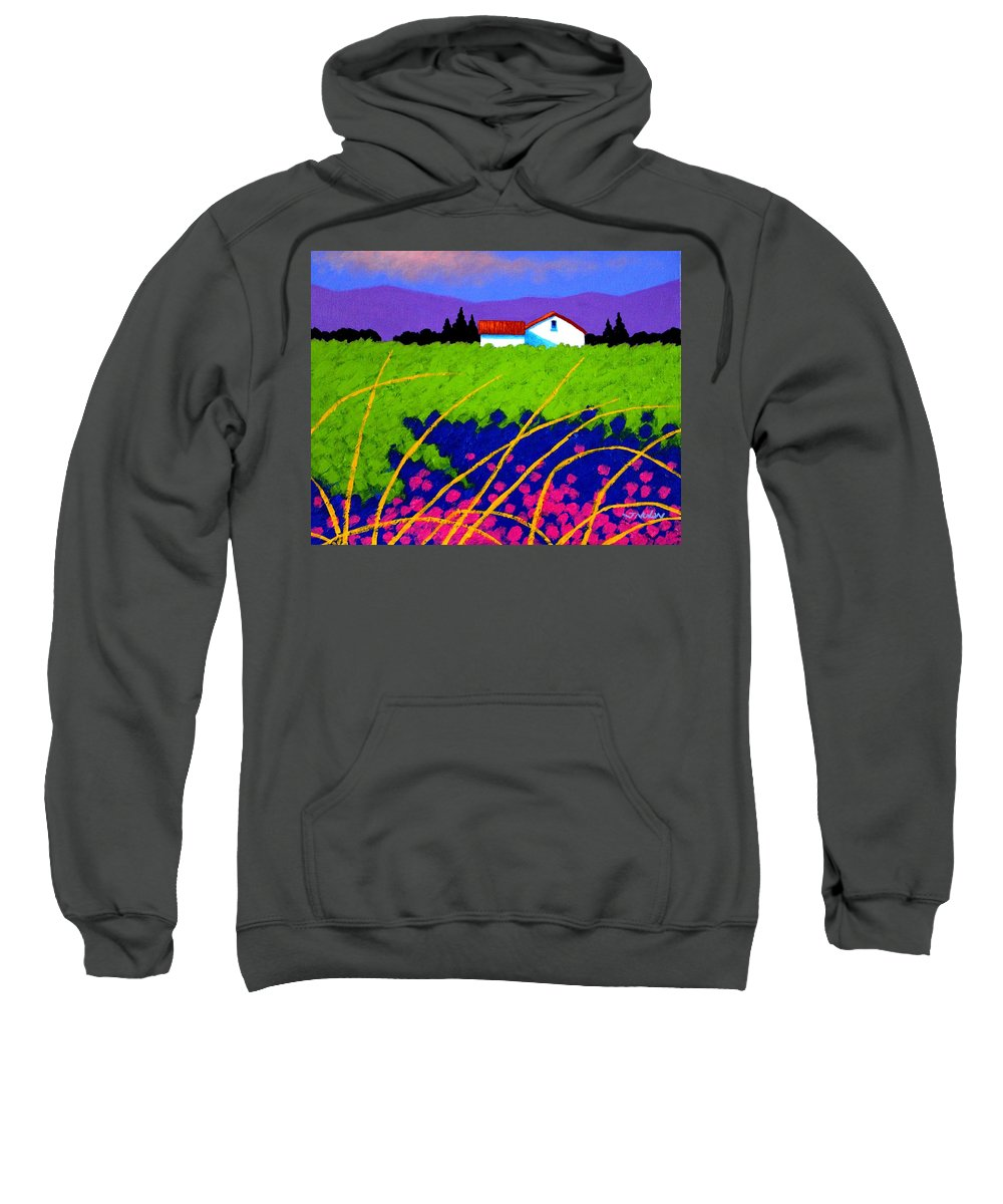 Lavender Sweatshirt featuring the painting Study For Provence Painting by John Nolan