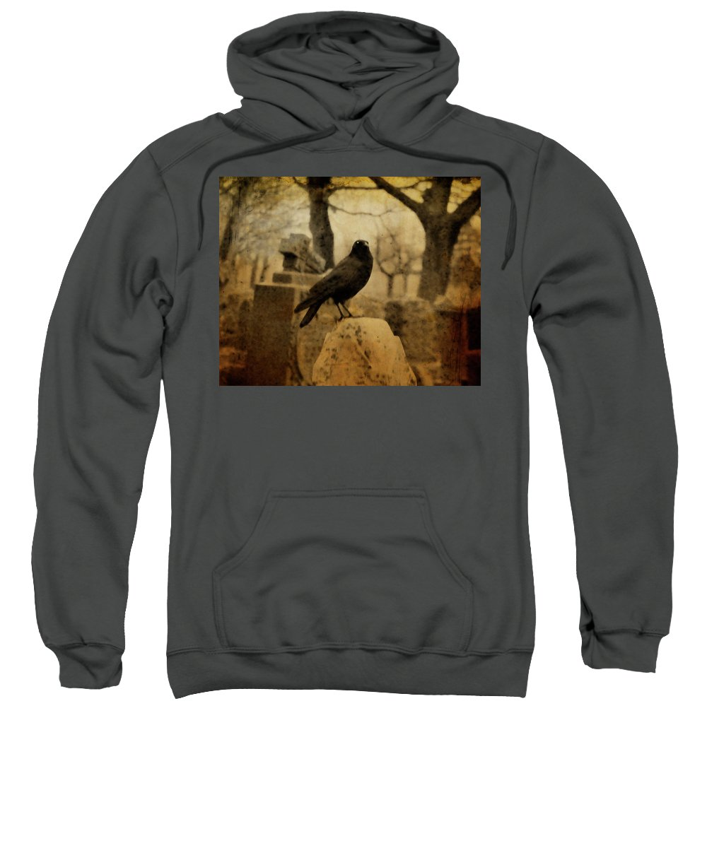 Raven Sweatshirt featuring the photograph Study Of The Surly Raven by Gothicrow Images