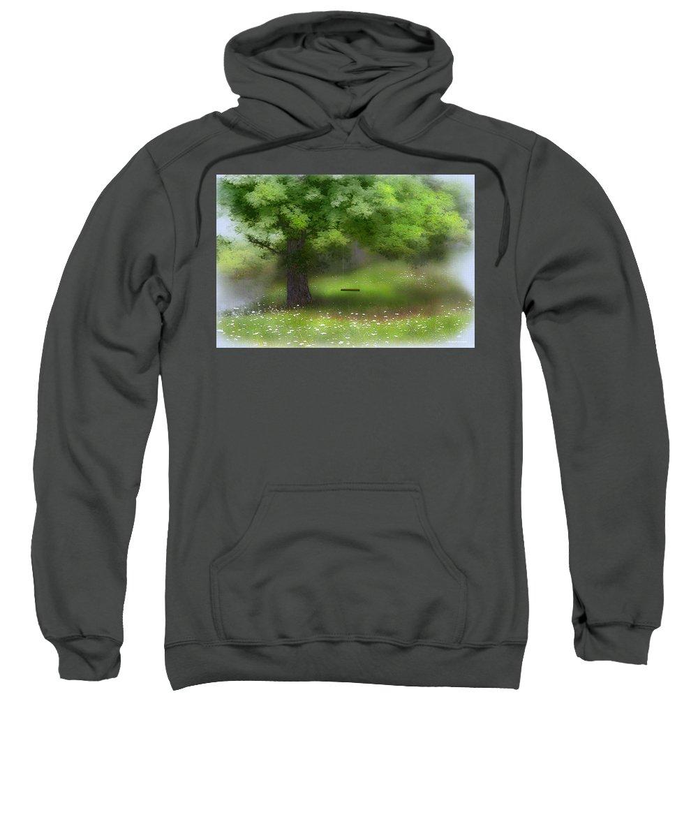 Summer Sweatshirt featuring the digital art Summer Days by Ron Jones