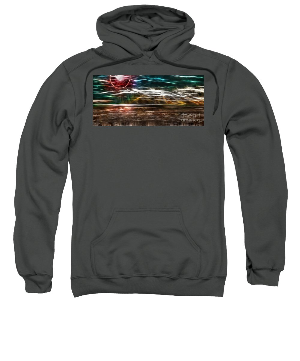 Summer Sweatshirt featuring the digital art Summer Harvest Storm by Peter Piatt