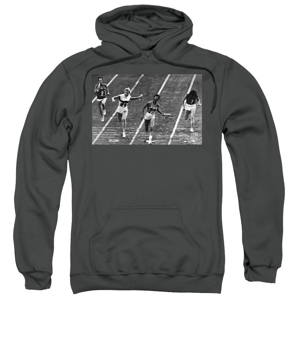 1960 Sweatshirt featuring the photograph Summer Olympics, 1960 by Granger