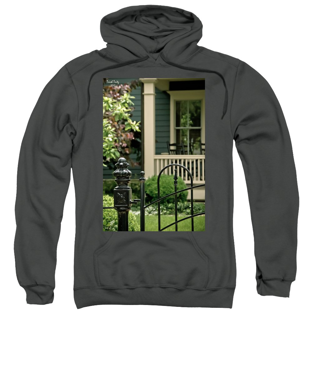 Porch Sweatshirt featuring the photograph Sunday Afternoon In Doylestown by Trish Tritz