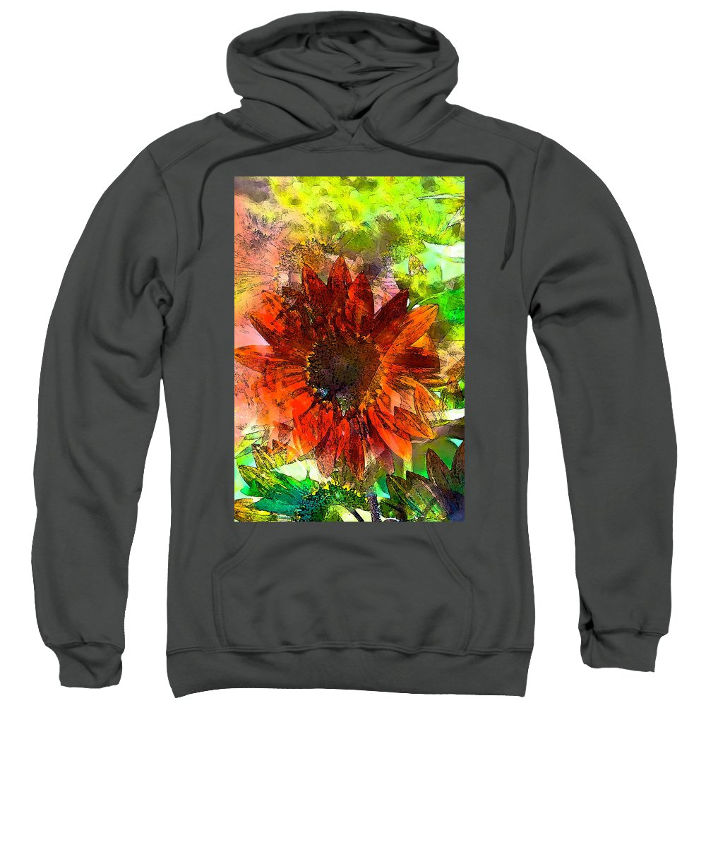 Floral Sweatshirt featuring the photograph Sunflower 7 by Pamela Cooper