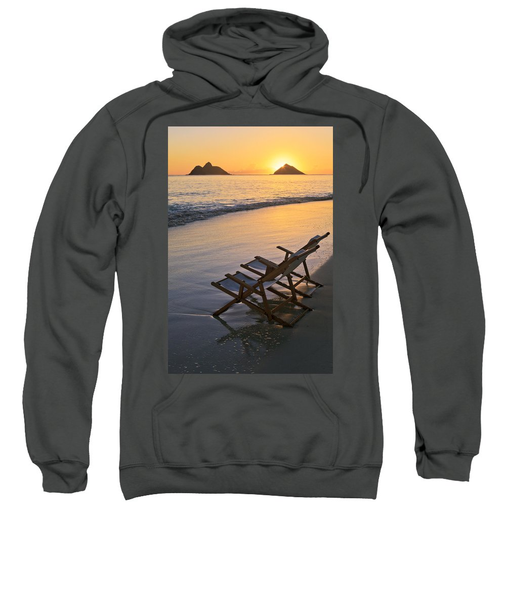 Alone Sweatshirt featuring the photograph Sunrise At Lanikai by Tomas del Amo