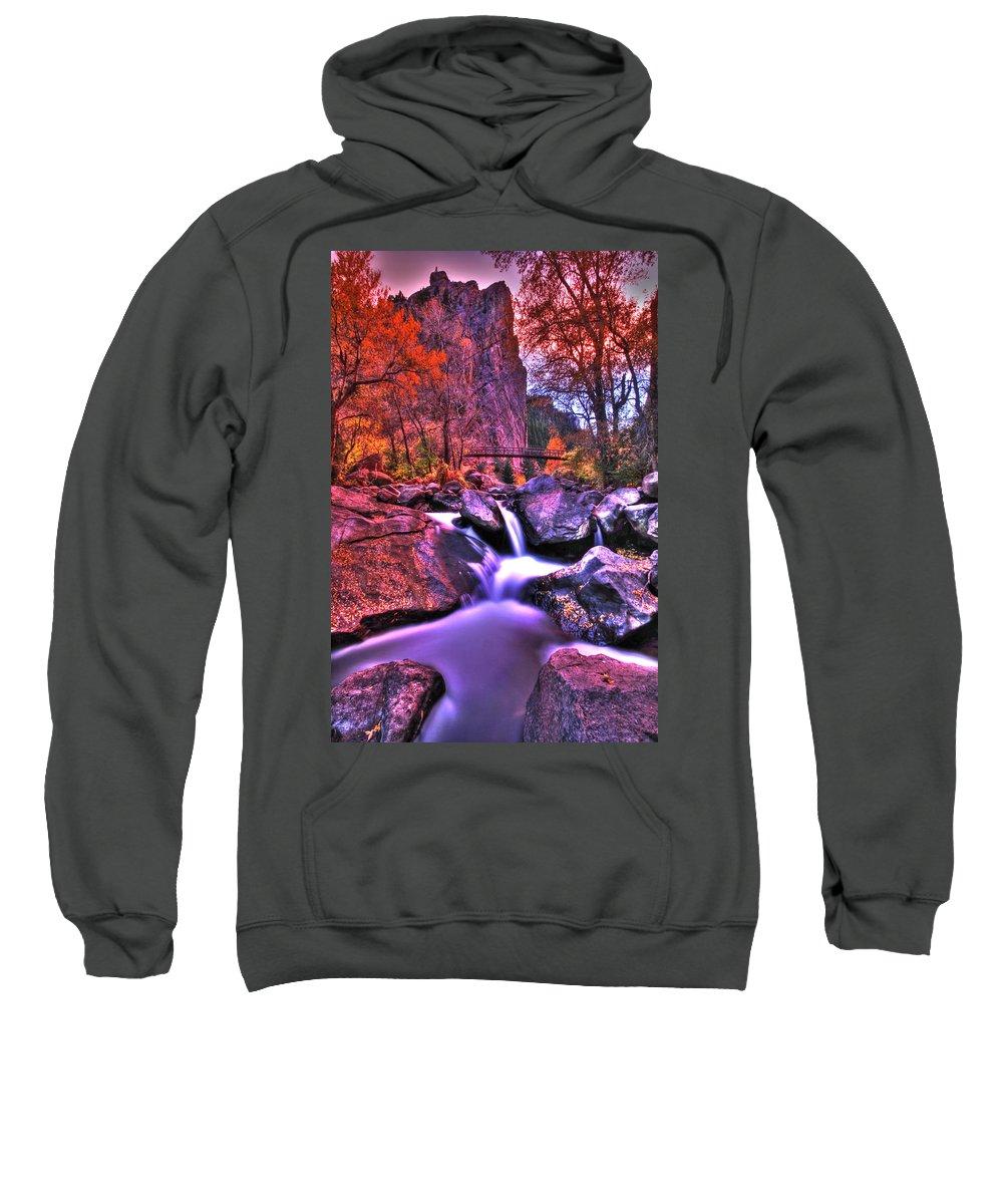 Landscape Sweatshirt featuring the photograph Sunset Canyon by Scott Mahon