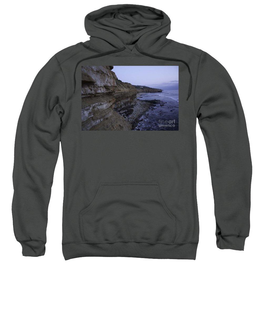 Sunset Cliffs Sweatshirt featuring the photograph Sunset Cliffs by Priscilla Monger