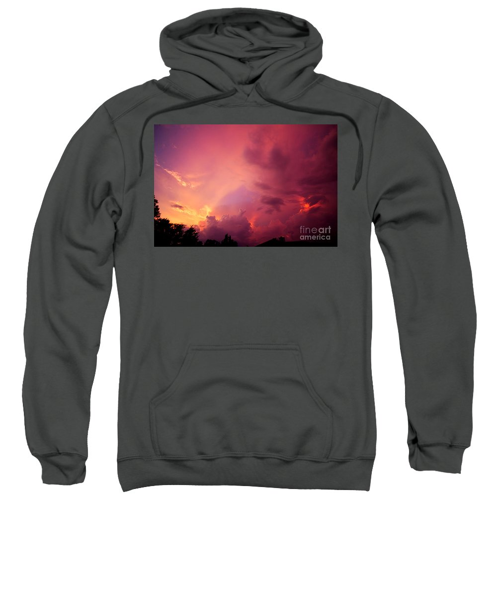 Sunset Sweatshirt featuring the photograph Sunset Color by Joan McCool