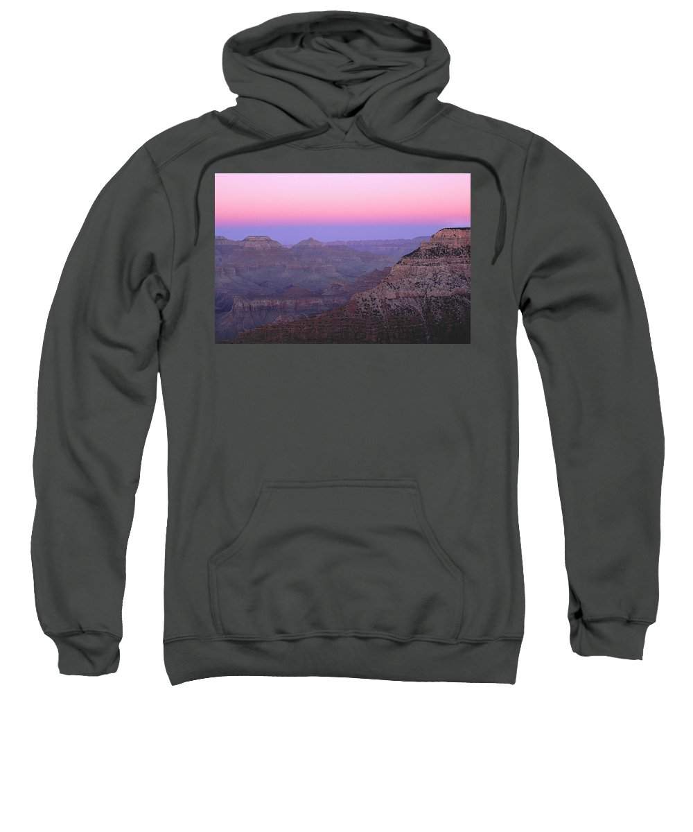 Grand Canyon Sweatshirt featuring the photograph Sunset Hues At Grand Canyon by Greg Matchick