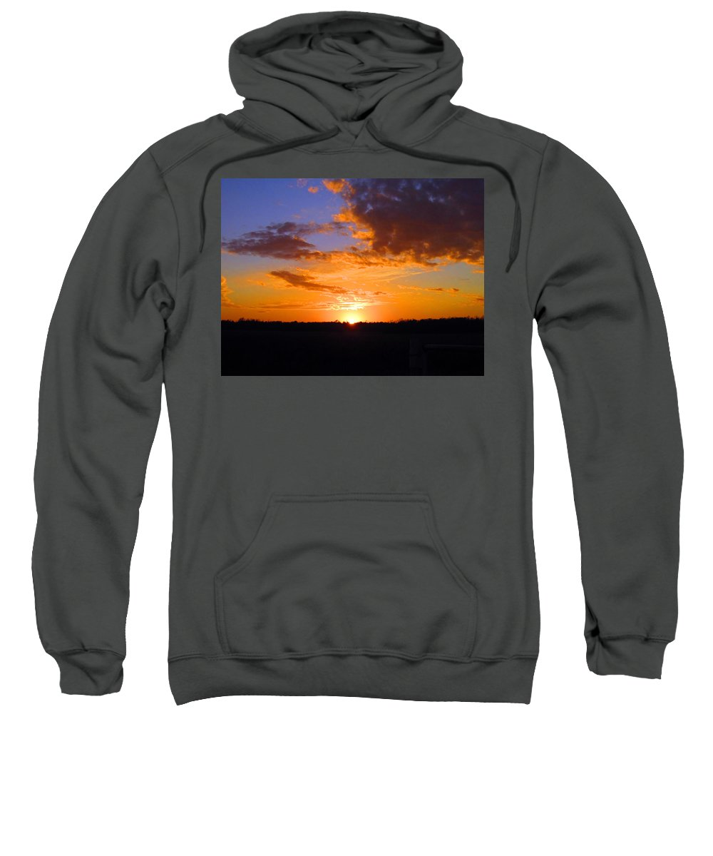 Sun Sweatshirt featuring the photograph Sunset In Wayne County by Lisa Stanley